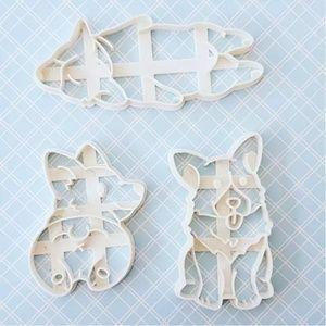 Corgi cookie cutter set of 3